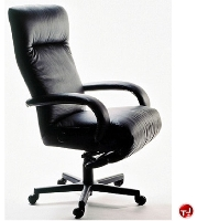 Picture of Lafer Executive Kiri Recliner, Leif Petersen NCLFEXKI Black Chair