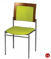 Picture of Amanada Contemporary Guest Side Reception Armless Stack Chair
