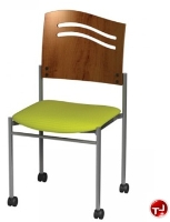 Picture of Amanada Contemporary Guest Side Reception Armless Mobile Stack Chair