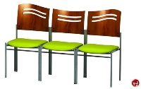 Picture of Amanada Contemporary Reception Lounge Tandem  Seating, 3 Ganged Chairs