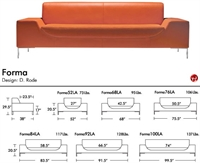 Picture of Aceray Forma 100, Contemporary Reception Lounge Lobby Sofa
