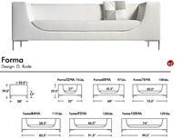 Picture of Aceray Forma 52, Contemporary Reception Lounge Lobby Sofa