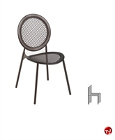 Aceray 126, Outdoor Steel Armless Stack Chair
