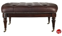 Picture of Stanley Signature Saville Tufted Leather Cocktail Table