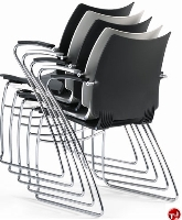 Picture of Source i-Flexx 410, Contemporary Guest Side Reception Stacking Arm Chair