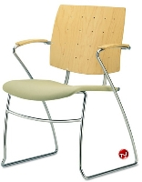 Picture of Source i-Flexx 571, Contemporary Guest Side Reception Sled Base Chair