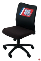 Picture of Boss B6105, Mid Back Mesh Armless Task Chair with Logo