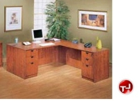 "Picture of 72"" L Shape Laminate Office Desk Workstation, 2 File Pedestals"