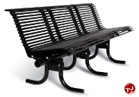 Picture of 800 Outdoor Stainless Steel 3 Seat Palmetto Bench