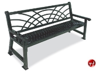 """Picture of Outdoor 922 Savannah 48"""" Stainless Steel Morning Bench"""