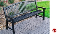 """Picture of Outdoor 922 Savannah 72"""" Stainless Steel Bow Bench"""
