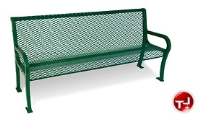 "Picture of Lexington 954, 48"" Outdoor Cast Aluminum - Steel Bench with Back"