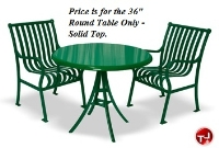 """Picture of Hamilton 364, Outdoor Stainless Steel 36"""" Round Cafeteria Dining Table"""