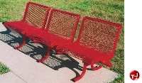 Picture of Outdoor 800 Series 3-Seat Straight Steel Bench, Surface Mount