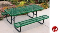 "Picture of Outdoor 158, 48"" Heavy Duty Steel Picnic Dining Table"