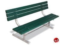 """Picture of Outdoor 940 Bench, 72"""" Recycled Plastic Park Bench with Back, Surface Mount"""
