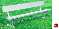 Picture of Outdoor 940 Bench, 8' Aluminum Park Bench with Back, Surface Mount