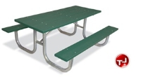 Picture of Outdoor 238 Picnic Bench Table, 8' Extra Heavy Duty Recylced Plastic Table
