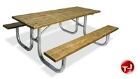 Picture of Outdoor 238 Picnic Bench Table, 8' Extra Heavy Duty Pine Table