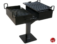 Picture of 627 Dual Grate Family Size Inground Pedestal Grill