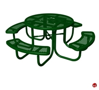 Picture of Bark Park Chow Hound Picnic Bench Table, Laser Cut Paw Prints