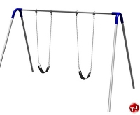 Picture of Play Today PBP-8-1S Single Bay Bipod Swing Set with Strap Seats