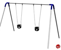 Picture of Play Today PBP-8-1S Single Bay Bipod Swing Set with Tot Seats