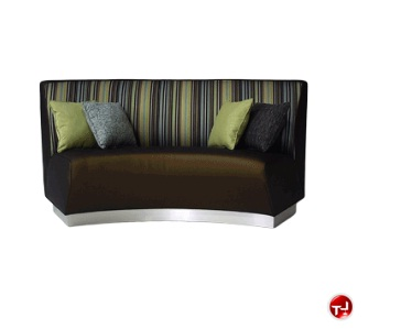 The Office Leader Banquette 730 Reception Lounge Lobby Curved 2 Seat Double Bench Sofa