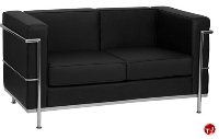 Picture of Contemporary Reception Lounge 2 Seat Leather Loveseat
