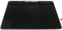 "Picture of Dacasso P1023 Conference Pad Black Leather Deskpad, 17"" x 14"""