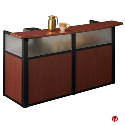 """Picture of 72"""" Reception Coffee Bar Desk Workstation, 53991"""