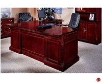 Picture of DMI Keswick 7990-57 Traditional Veneer L Shape Executive Office Credenza