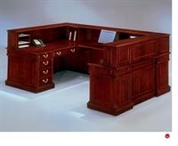 Picture of DMI Keswick 7990-68 Traditional Veneer U Shape Reception Desk Workstation