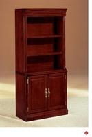 "Picture of 32557 Traditional Veneer 72"" Open Bookcase with Doors"