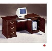 """Picture of DMI Andover 7462-22 Traditional Laminate 66"""" Computer Credenza with CPU Storage"""