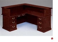 "Picture of 10515 Traditional Laminate 66"" L Shape Reception Desk Workstation"