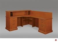 "Picture of DMI Belmont 7130-67 Veneer 72"" L Shape Reception Desk Workstation"