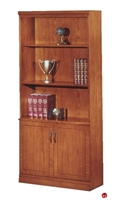 """Picture of 32611 Veneer 36"""" Open Bookcase with Doors"""