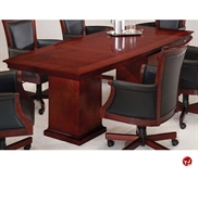 "Picture of 40711 Veneer 96"" Boat Shape Conference Table"