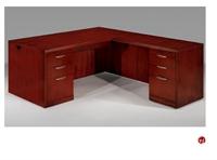 """Picture of 15898 Veneer 72"""" L Shape Office Desk Workstation"""