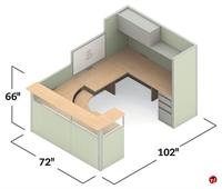 Picture of Global e0+ Modular U Shape Reception Office Desk Cubicle Workstation