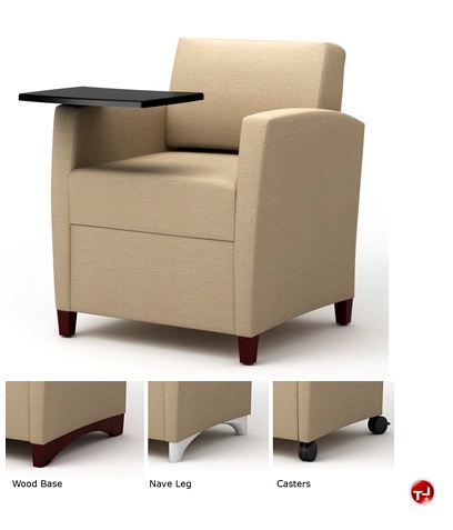 The Office Leader Integra Tria Reception Lounge Lobby Tablet Arm Chair
