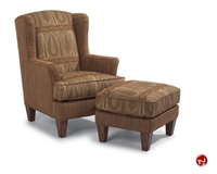 Picture of Flexsteel C020C Reception Lounge Arm Chair with Ottoman
