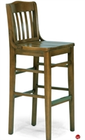 Picture of Flexsteel C2106 Cafeteria Dining Wood Armless Barstool Chair