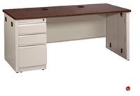 """Picture of 24"""" x 48"""" Single Pedestal Steel Office Desk"""