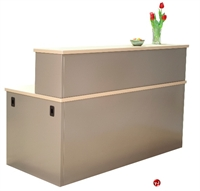 "Picture of 30"" x 48"" Steel Reception Desk Workstation"