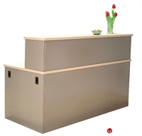 "Picture of 30"" x 72"" Steel Reception Desk Workstation"