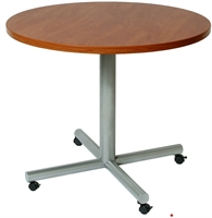 """Picture of 36"""" Round Mobile Cafeteria Dining Conference Table"""