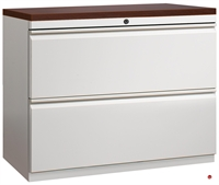 """Picture of 2 Drawer Trace Lateral File Cabinet, 30""""W with Laminate Wood Top"""