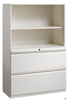 """Picture of 2 Drawer Trace Lateral File Combo Steel Open Cabinet, 30""""W"""
